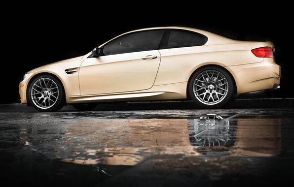 Picture reflection, rain, bmw, BMW, puddle, profile, beige, e92, beige