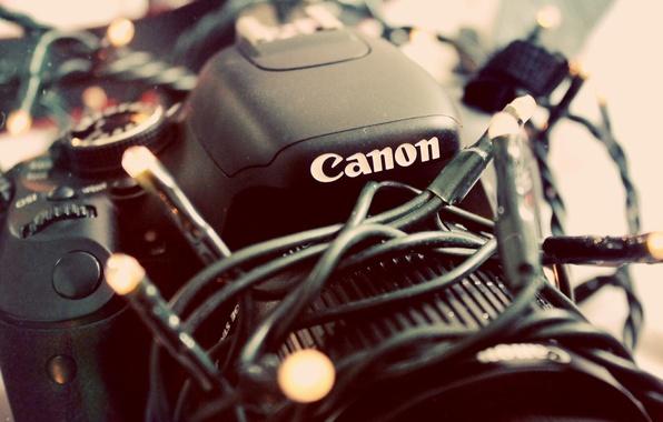 Picture camera, the camera, garland, canon