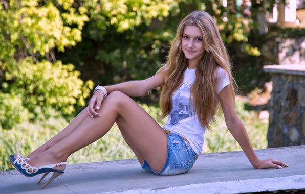 Picture shorts, Girl, jeans, Mike, beautiful