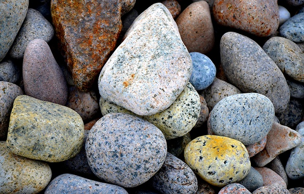 Picture sea, pebbles, stones, color, pebbles