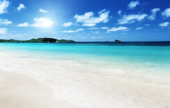 Picture sand, sea, beach, the sky, clouds, landscape, nature