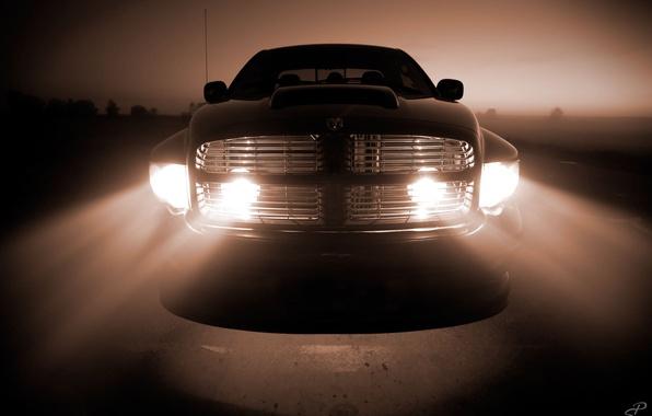 Picture Grille, Dodge, Lights, Light