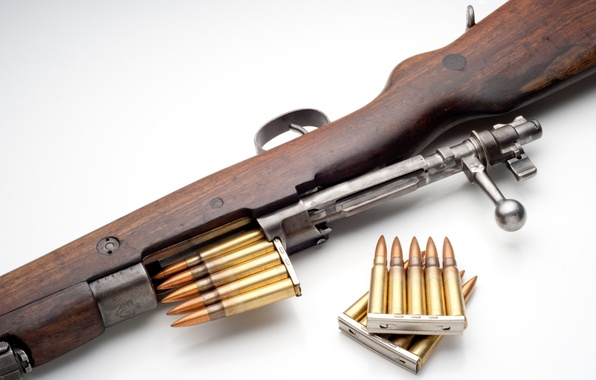 Picture weapons, cartridges, rifle, shutter, Mauser