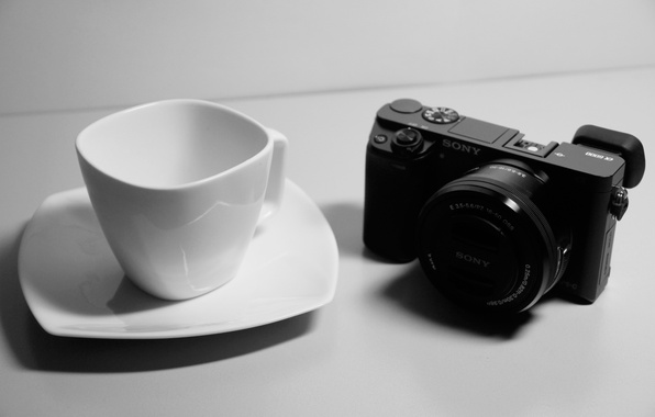 Picture white, black, sony, cup, mood, situation, a6000