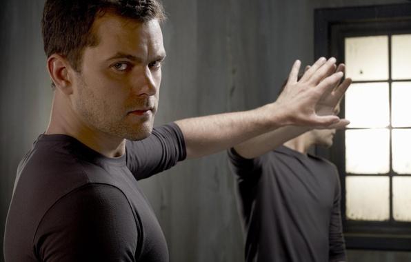 Picture reflection, hand, mirror, actor, male, Joshua Jackson, Joshua Jackson