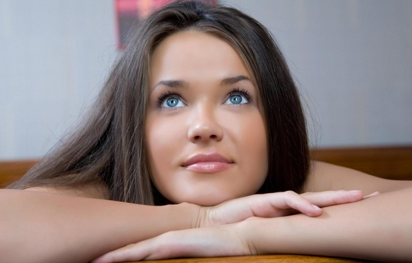 Picture eyes, look, girl, hair, lies, brown hair, beautiful, Chantelle Has