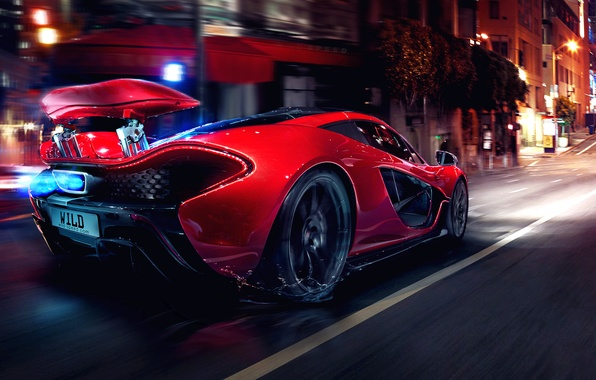 Picture Concept, Glow, Lights, Night, Street, Tuning, Supercar, Motion, Sportcar, Spoiler, Hypercar, Mclaren