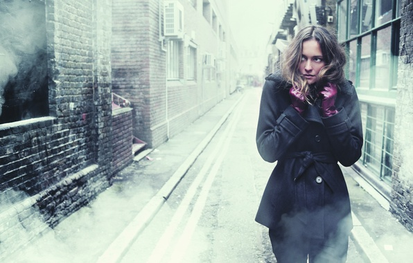 Picture cold, girl, loneliness, fear, street, anxiety