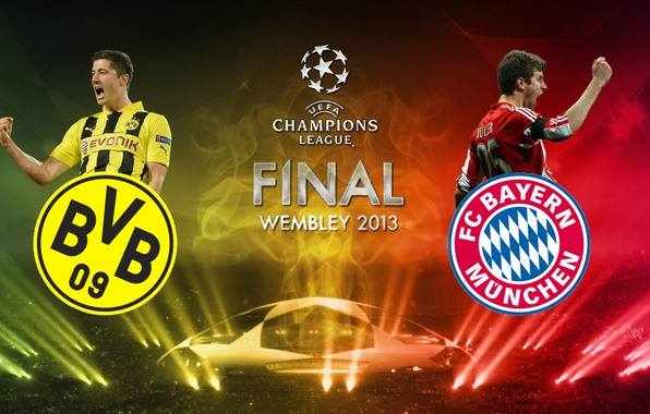 Picture football, player, borussia dortmund, bayern, wembley, muller, final, Dortmund, Lewandowski
