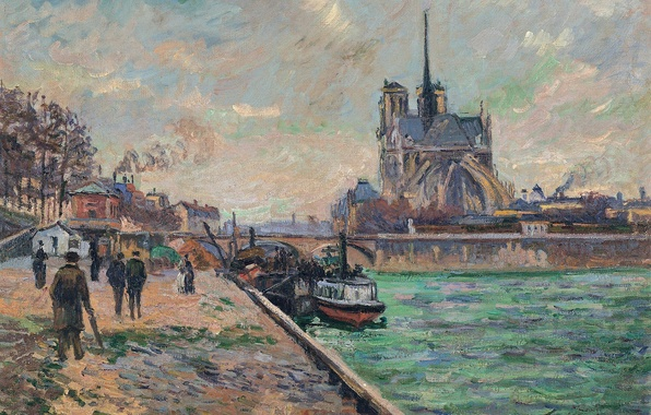 Picture bridge, the city, river, picture, Paris, the urban landscape, Arman Hyomin