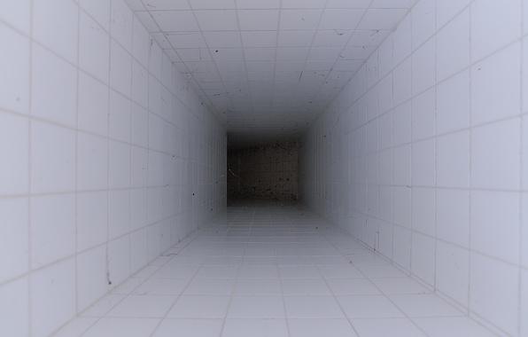 Picture white, darkness, corridor