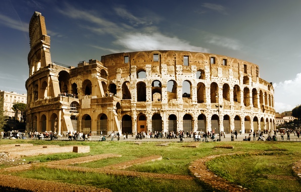 Picture people, Rome, Colosseum, Italy, Italy, Colosseum, Rome, amphitheatre