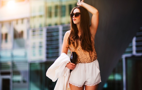 Picture summer, girl, face, style, clothing, hair, glasses, fashion