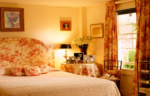 Picture design, house, style, Villa, interior, cottage, bedroom, living room, country style