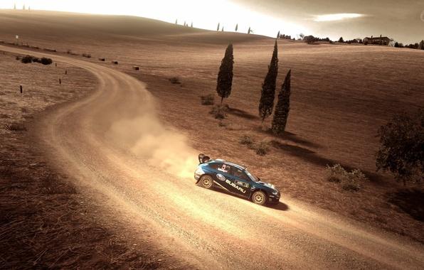 Picture road, the game, dust, game, gran turismo 5, subaru, road, rally, rally, wrx, impreza, wrc, …