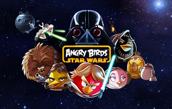 Picture droids, Star Wars, Star Wars, Darth Vader, Angry Birds, Han Solo, Obi-WAN Kenobi, The Death …