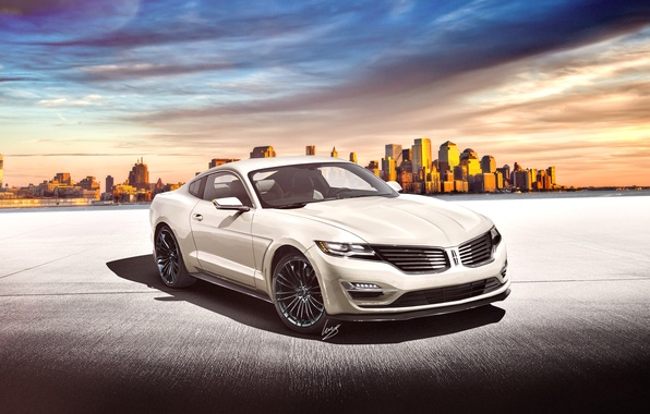 Picture render, front, render, Lincoln, Lincoln MK, on Ford Mustang base