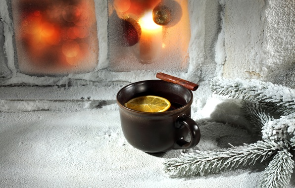 Picture winter, tea, new year, Christmas, Cup