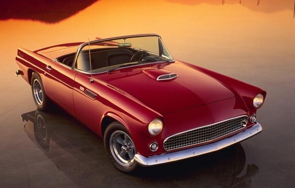 Picture auto, red, reflection, Retro