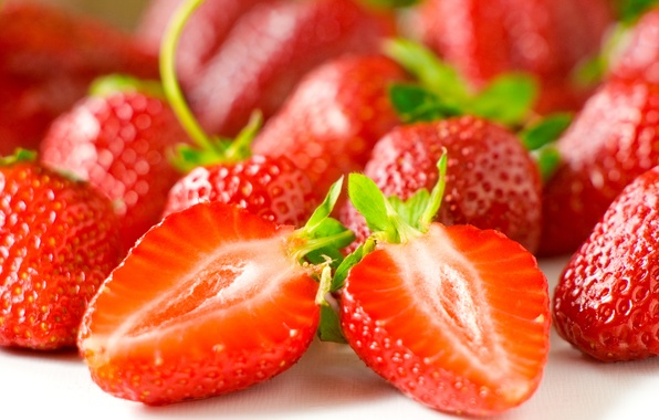 Picture macro, berries, strawberry, berry