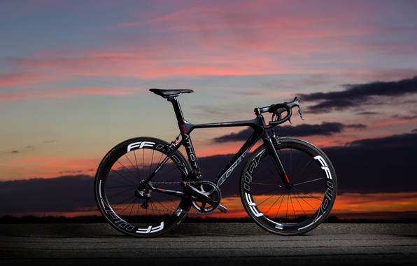 Picture the sky, landscape, sunset, bike, carbon, bicycle, Mathot, Pallium