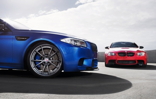Picture the sky, clouds, blue, red, shadow, BMW, BMW, red, Blik, f10, e92, monte carlo blue