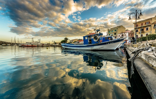 Picture sea, the sky, home, yachts, boats, harbour