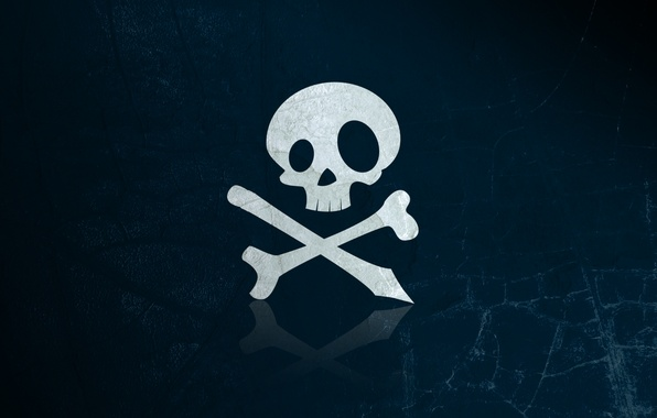 Picture bones, figure, texture, skull