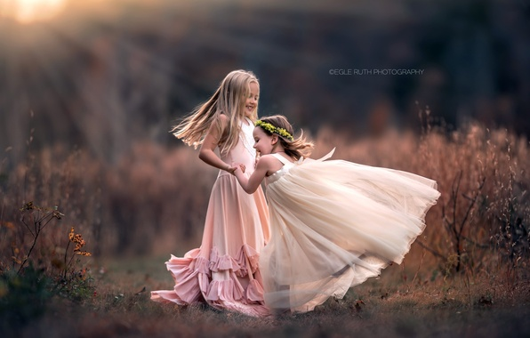 Picture nature, background, girls