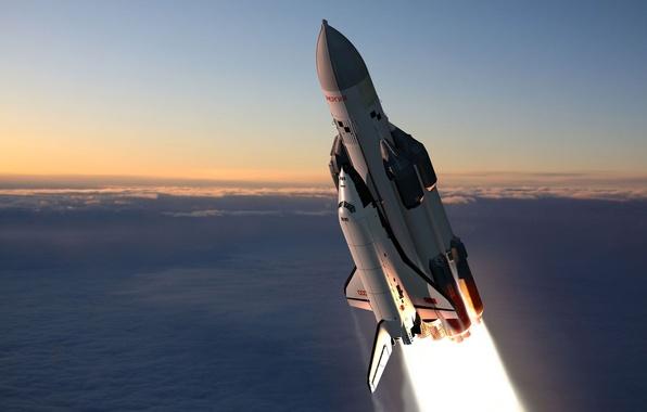 Picture space, ship, rocket, Buran, Energia-Buran