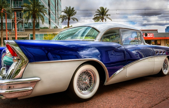 Picture retro, street, Buick, car, Buick, 58 Special