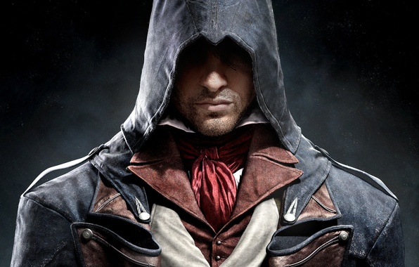 Picture nose, lips, hood, fabric, bristles, scar, killer, Ubisoft, Arno, Arno, Assassin's Creed: Unity