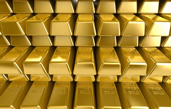 Picture Background, Wealth, Gold, Shine, Sample, Bars