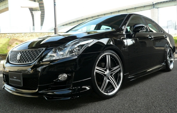 Picture japan, 2011, toyota, crown, wald, 2013, wallpeapers, athlete, supercharger