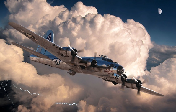 Picture figure, art, the plane, American, B-17G, WW2, bombardirovshik, 'The G.I. Virgin II'