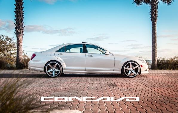 Picture machine, auto, Mercedes Benz, auto, side, S550, Wheels, Concave