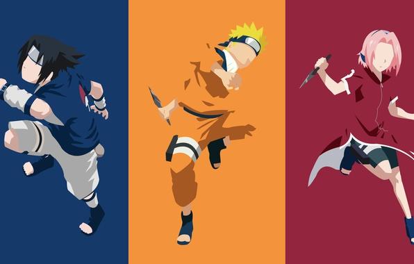 Picture game, Sasuke, Naruto, Sakura, minimalism, anime, ninja, hero, asian, Uchiha, manga, hokage, Uchiha Sasuke, shinobi, …