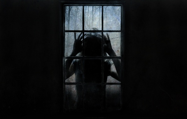Picture fear, stranger, window, horror