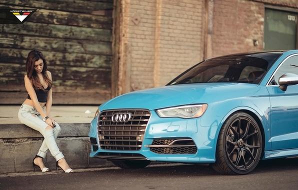 Picture Audi, Girl, Vorsteiner, Audi Cars, Audi and Girl, Car and Girl, Audi S3, Vorsteiner Audi …