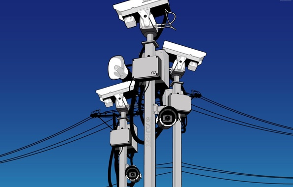 Picture blue, vector, security, camera