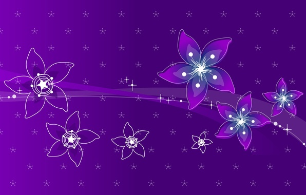 Photo wallpaper purple, strip, petals, flowers