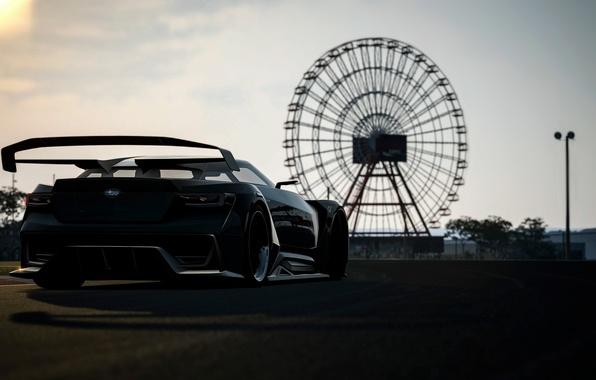 Picture view, wheel, Subaru