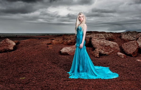 Picture girl, dress, fashion, dress, Beautiful Iceland, photographer Gunnar Gestur