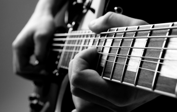 Picture guitar, hands, musician