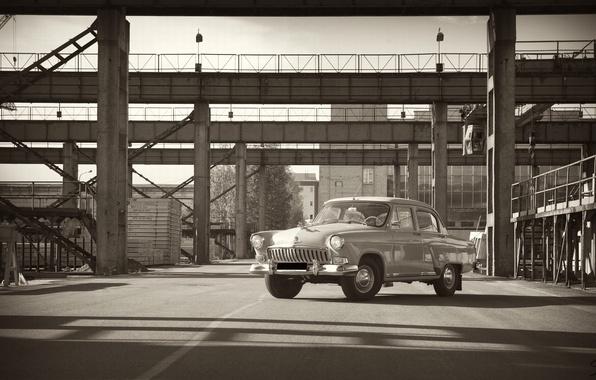 Picture machine, retro, Wallpaper, plant, gas, Volga