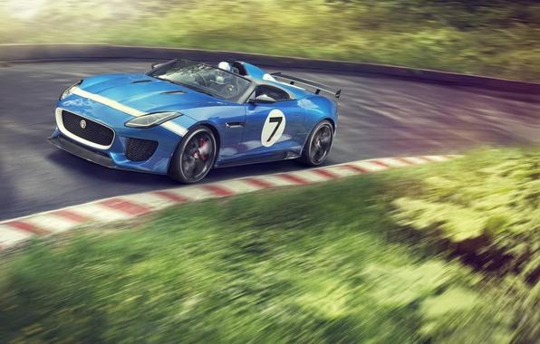 Picture Concept, blue, Jaguar, car, blue, Project 7