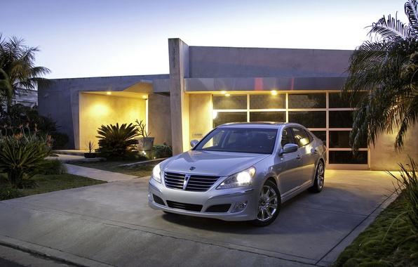 Picture the evening, garage, Auto, Hyundai Equus