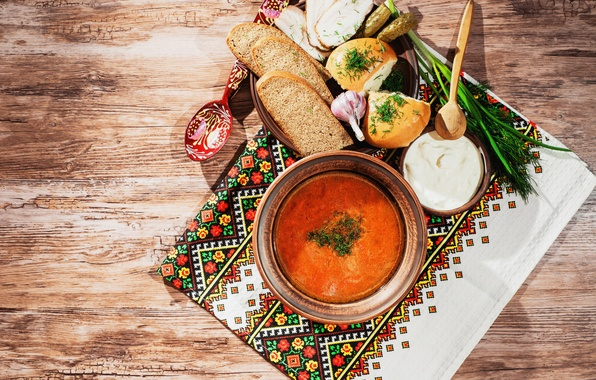 Picture Spoon, Plate, Food, Garlic, Bread, Fat, Soup