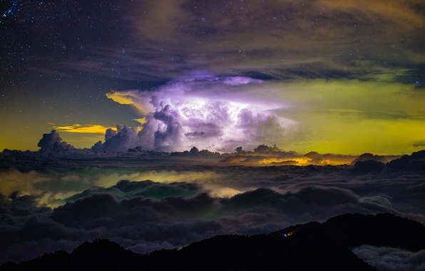 Picture the storm, the sky, clouds, storm