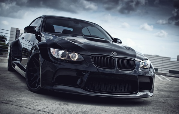 Picture black, bmw, BMW, wheels, black, e93, daylight